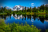Shuksan in highwood lake, - a reflection from the past