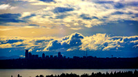 Seattle afternoon silhouettes