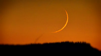 New moon ramzan 2017, 2.76% waxing crescent, May 26th, 2017.