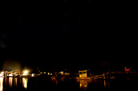 night at dock